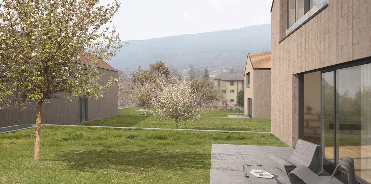 Villas ossature bois marin tsch pp t moret toiture for Villa ossature bois